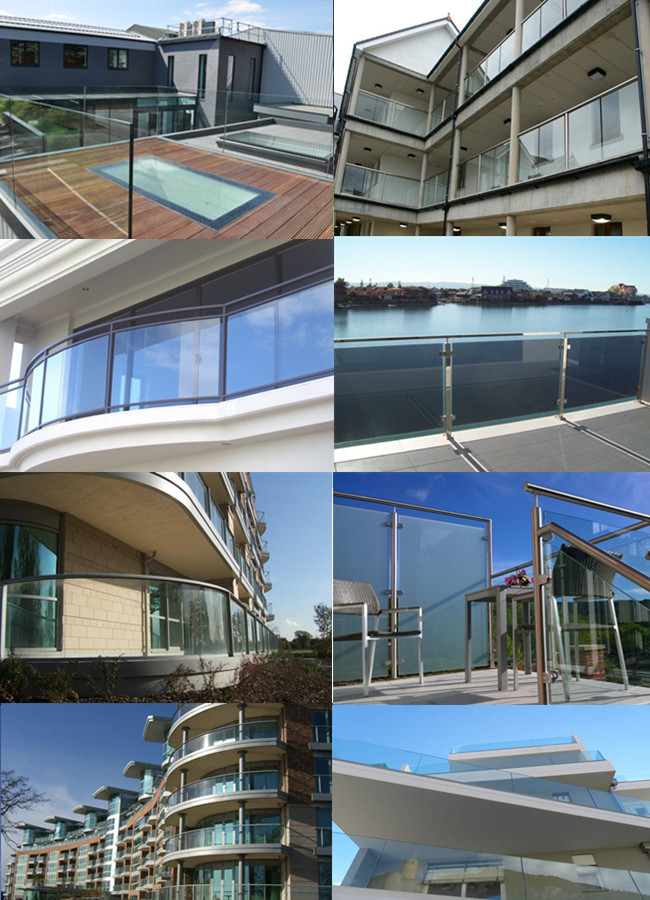 13.52mm toughened laminated glass balustrade