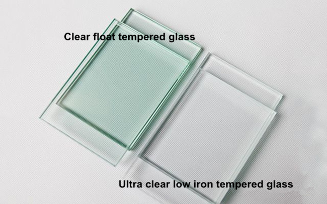 6mm low iron extra clear tempered glass