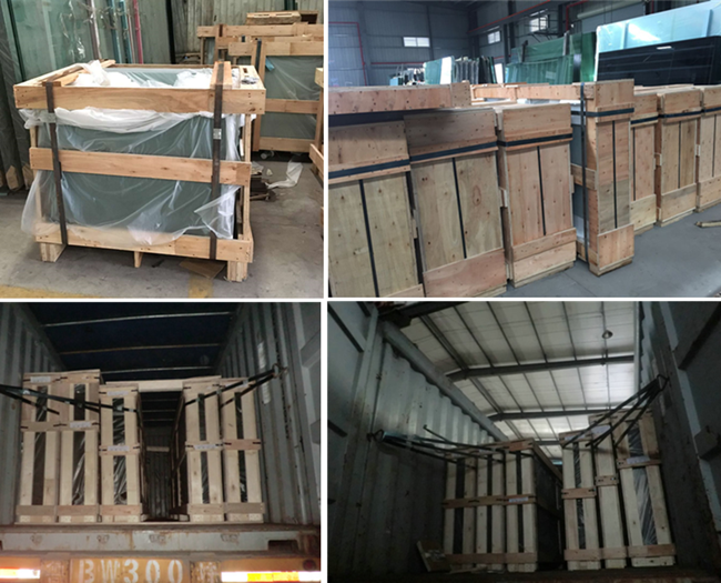 Safety packing and loading for glass railing