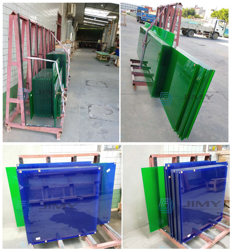 colored PVB laminated glass