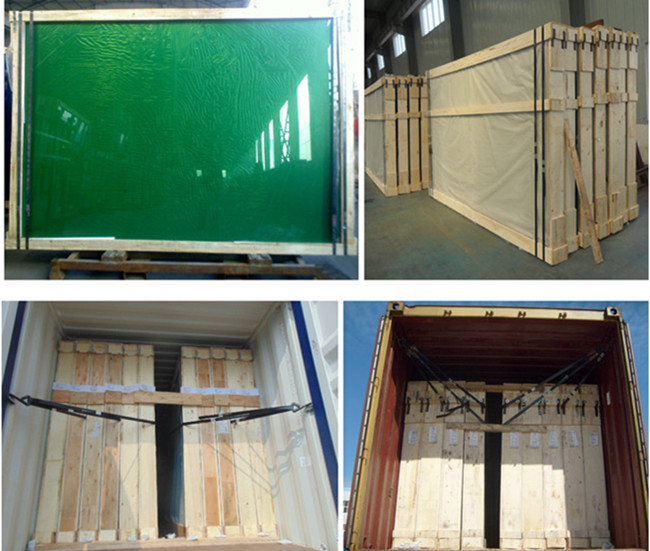 dark green reflective glass packing and loading_loading