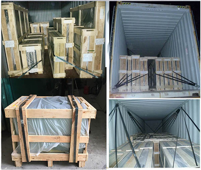 safety curved toughened glass packing