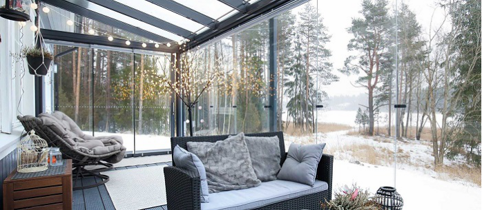 tempered glass single panels for sunroom