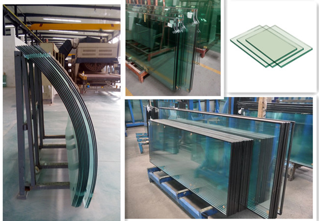 safety building glass curved and flat