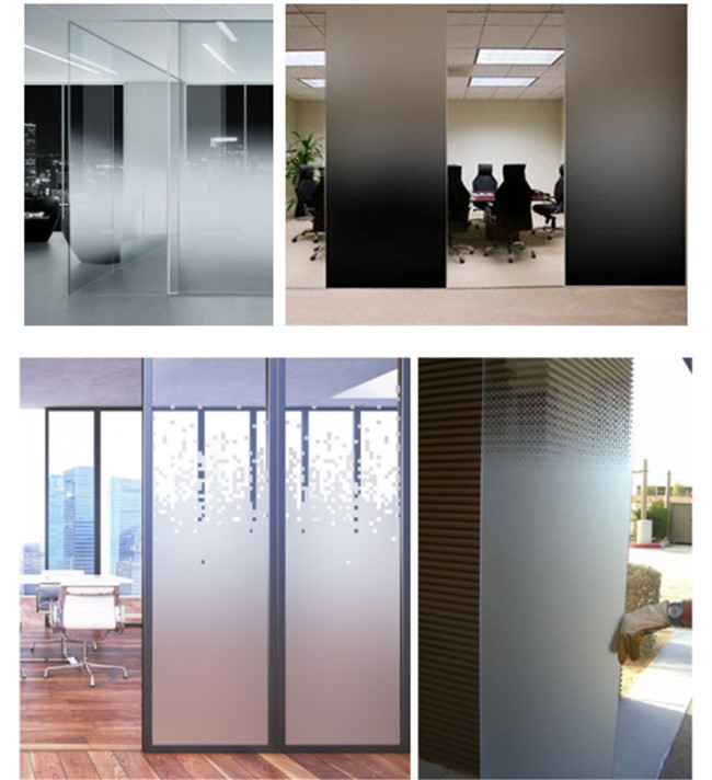 decorative Gradient glass for entrance door