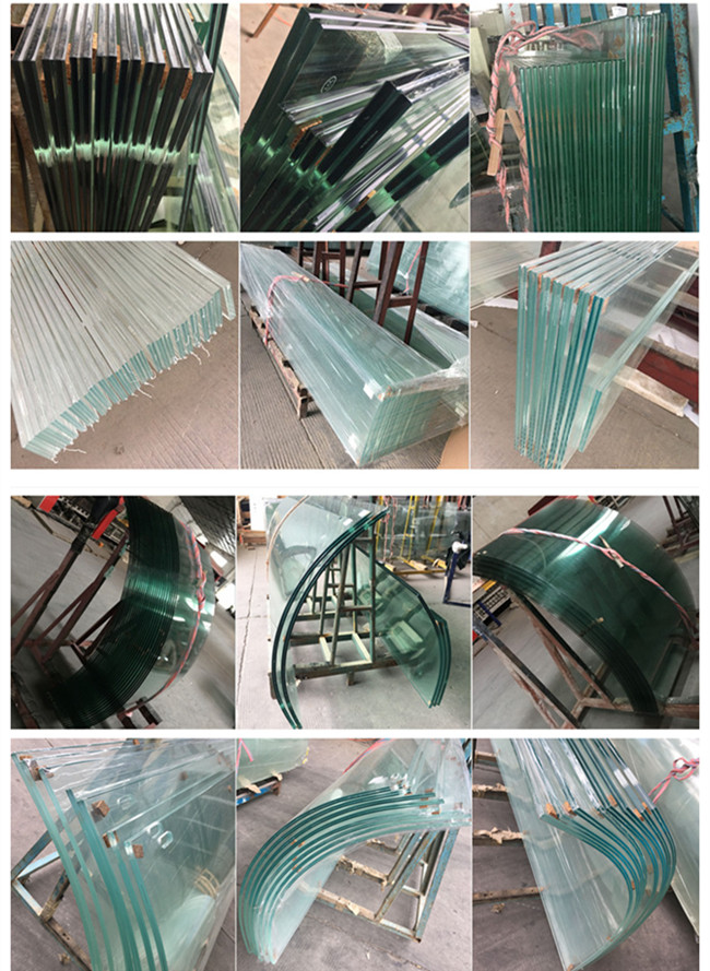 flat and curved tempered laminated glass