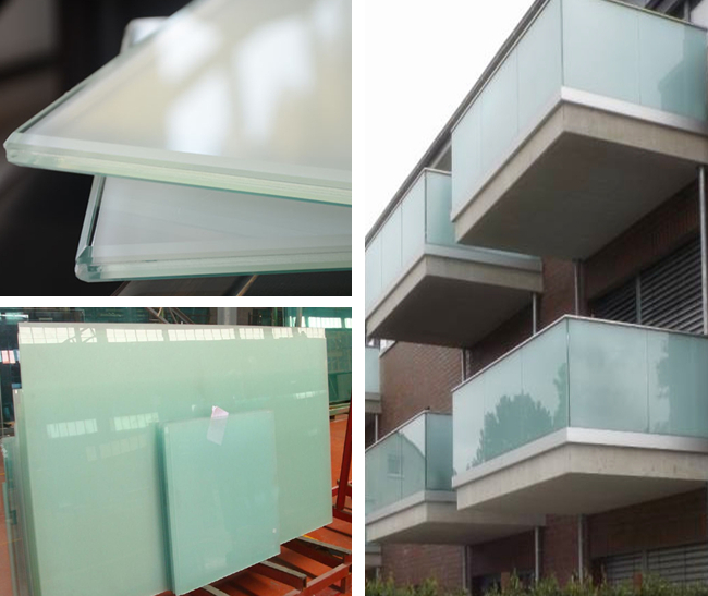 442 white PVB toughened laminated glass supplier