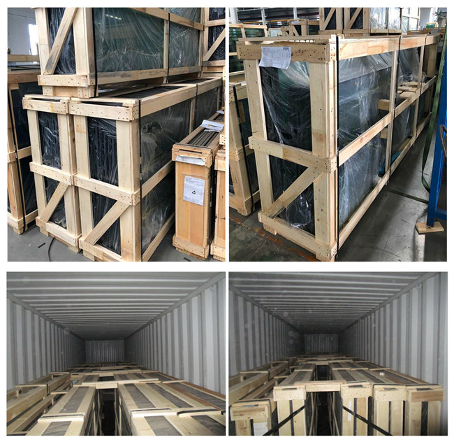safety packing and loading for silk screen printed DGU glass
