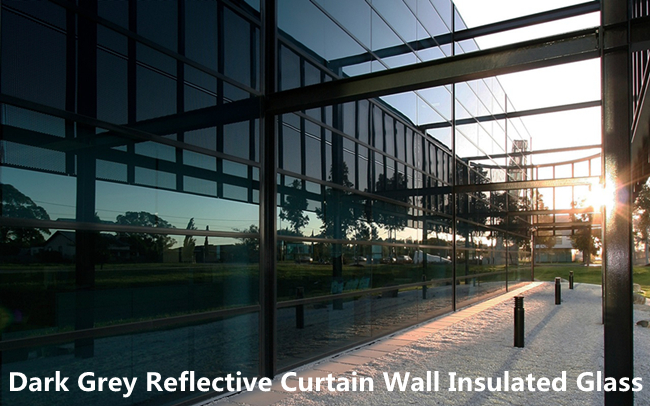 reflective double glazing curtain wall insulated glass