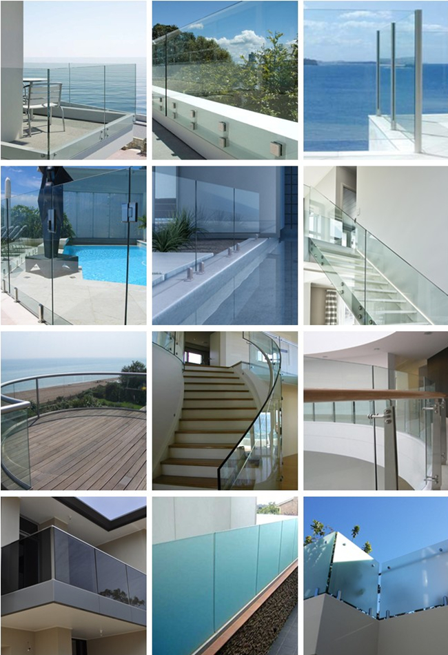 China balcony glass railings supplier