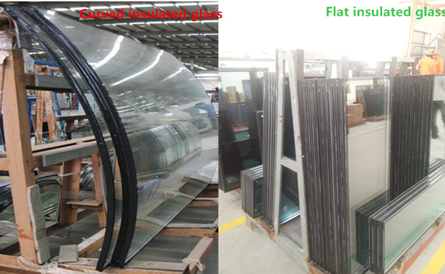 8mm+12A+8mm curved tempered insulated glass