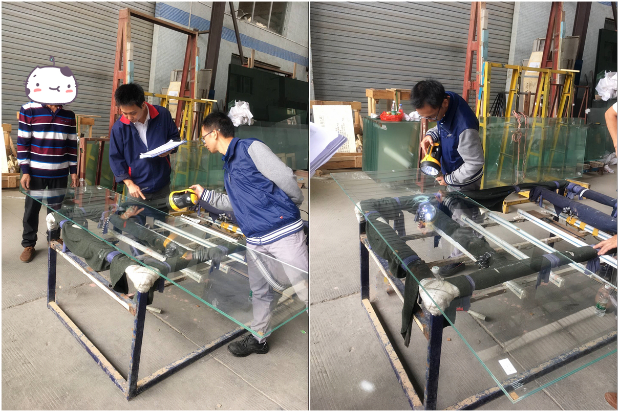Inspection for facade tempered laminated glass
