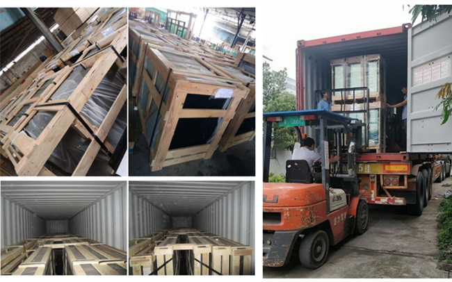 packing and loading shower glass doors