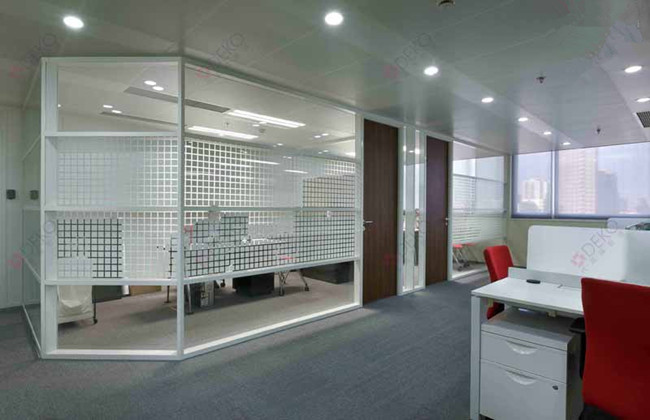 pattern glass partition wall
