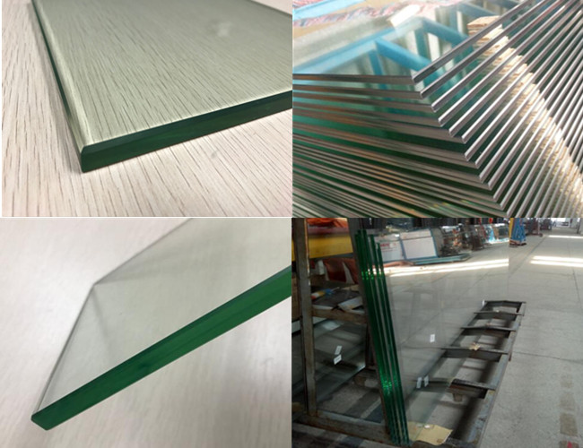12mm clear toughened heat soaked glass