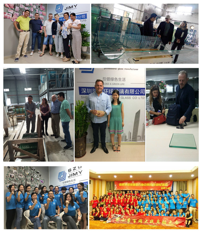 JIMYGLASS factory team and clients