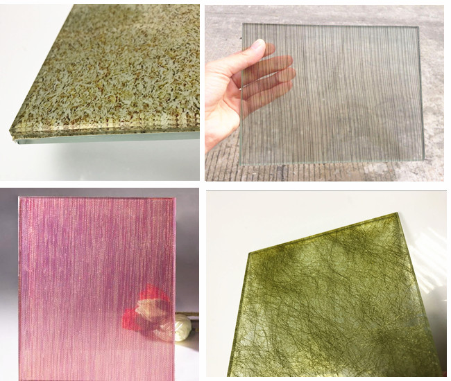 art decorative woven tempered laminated glass