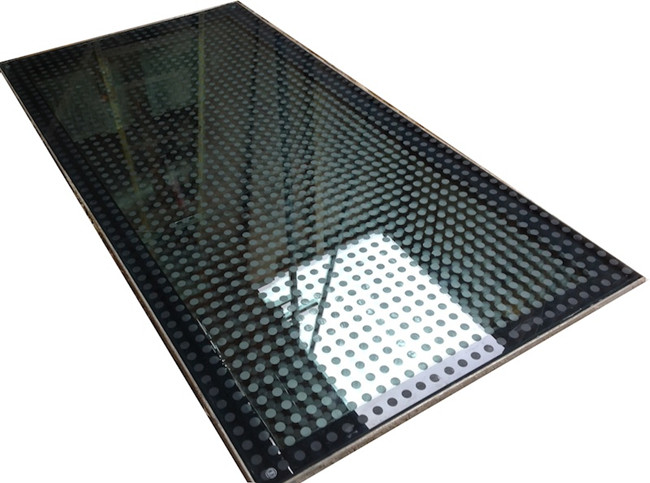 silk screen printed anti-slip glass_Floor