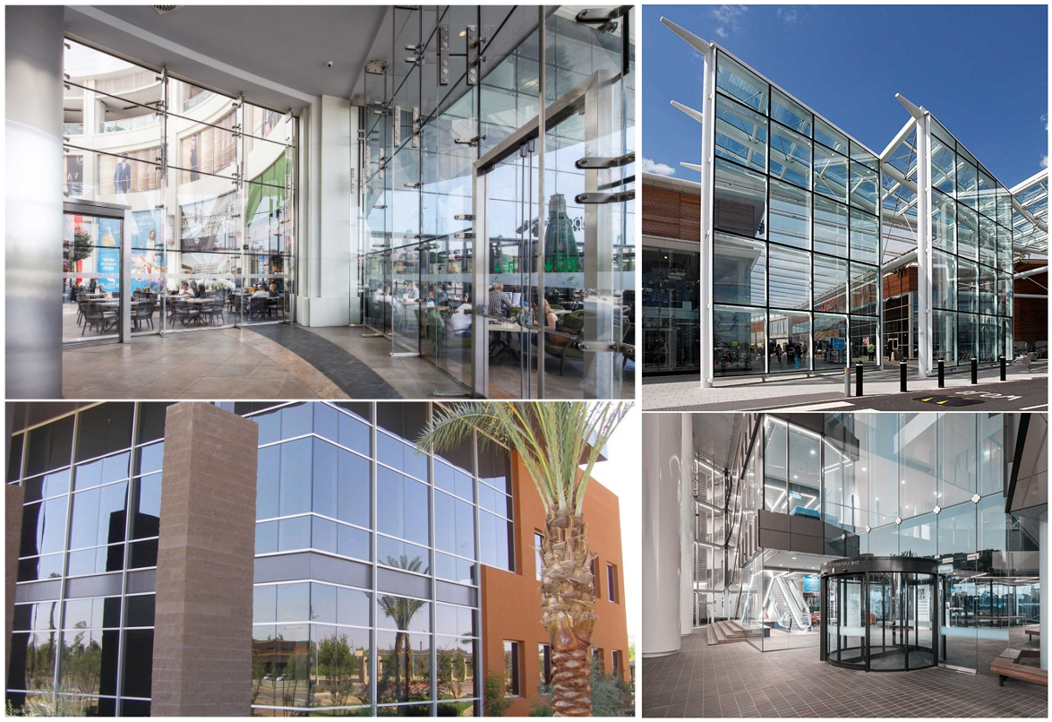 Tempered laminated facade glass for shopping mall