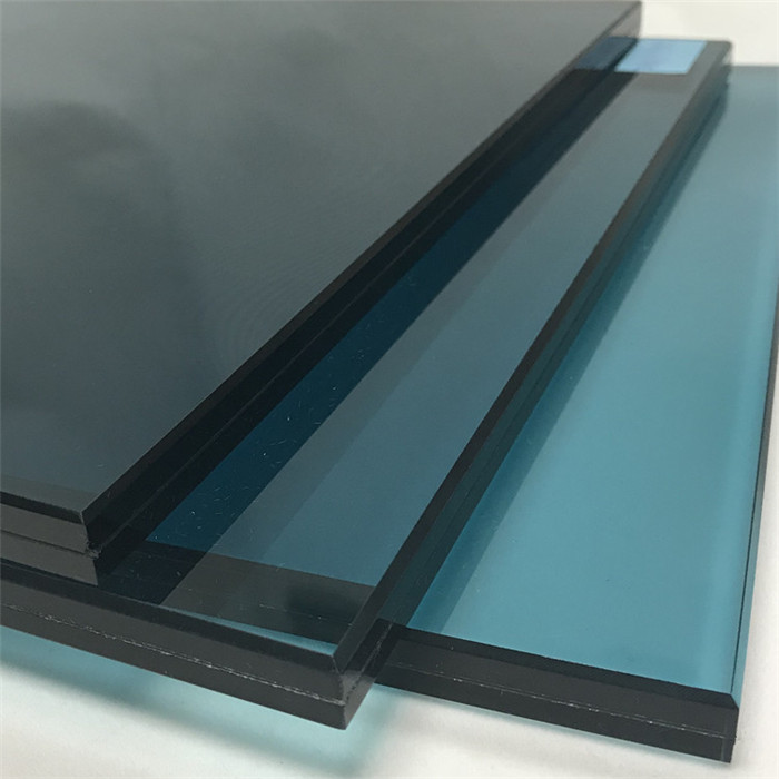 blue laminated glass price