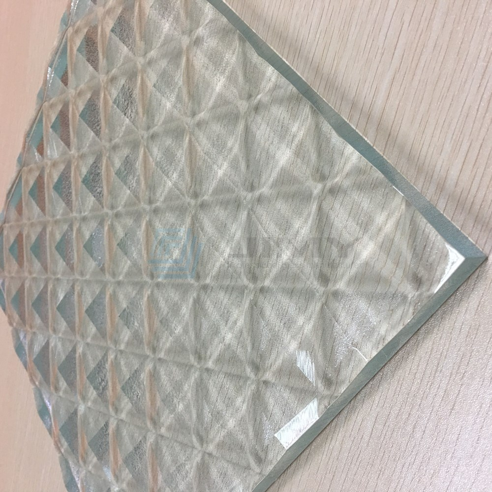 dimond clear pattern glass