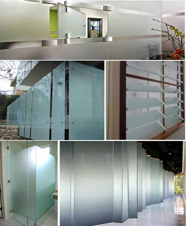 Acid Etched Glass application