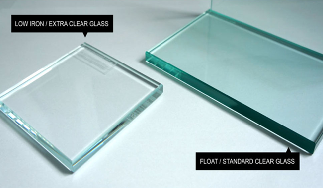 clear float glass and extra clear glass