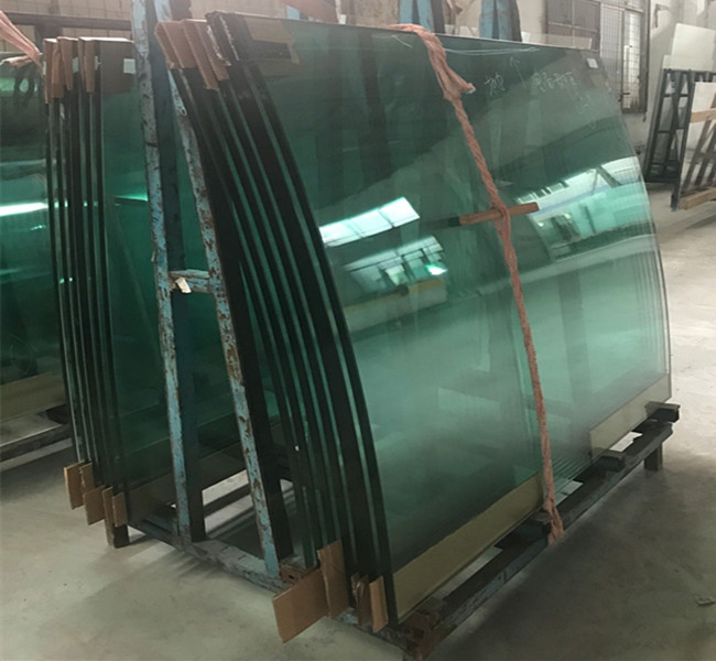 19mm bent toughened glass