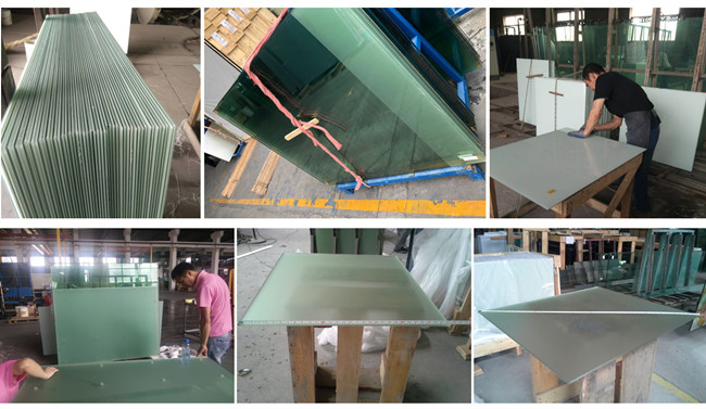 frosted laminated glass production