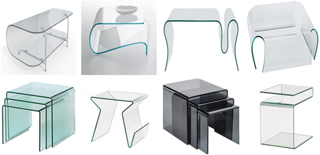 Different shape curved annealed glass