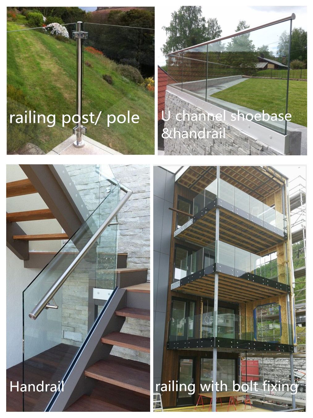 INSTALLED GLASS RAILING