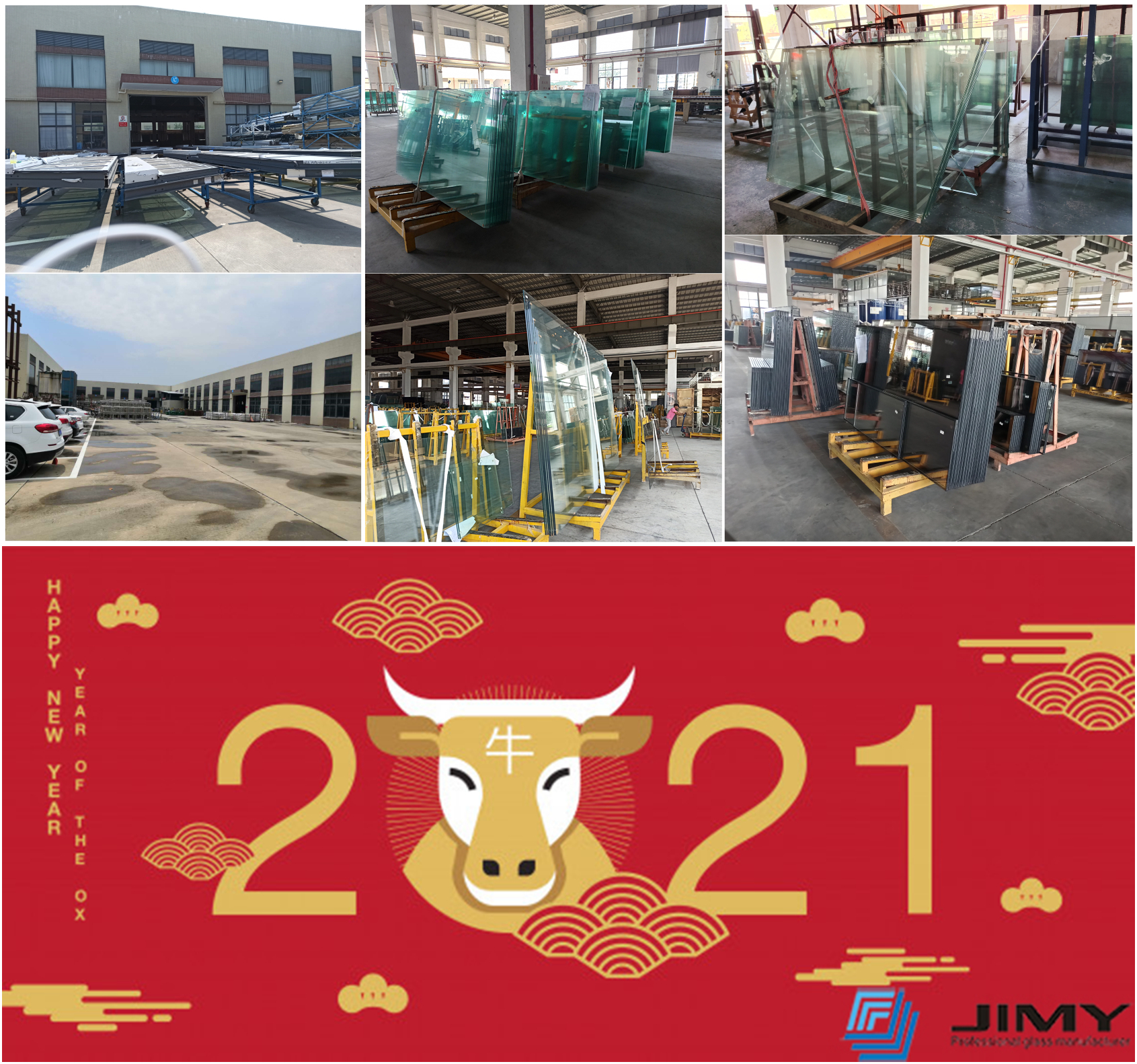 Happy Chinese New Year of the Ox for every our clients and friends from JIMY GLASS group