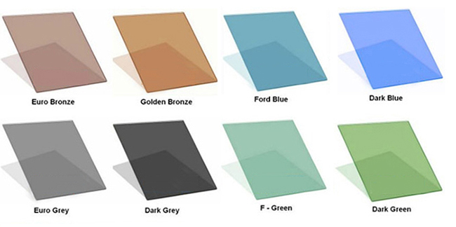 tinted glass colors
