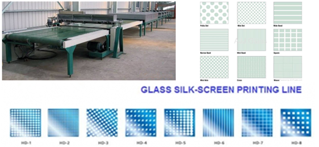 silk screen printed glass production