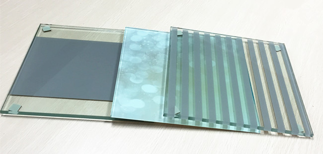 colored-silk-screen printed glass panels
