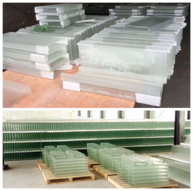U shaped glass in stock