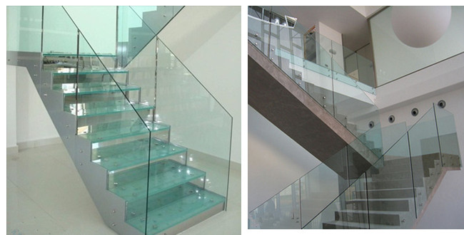 Laminated glass staircase supplier in China