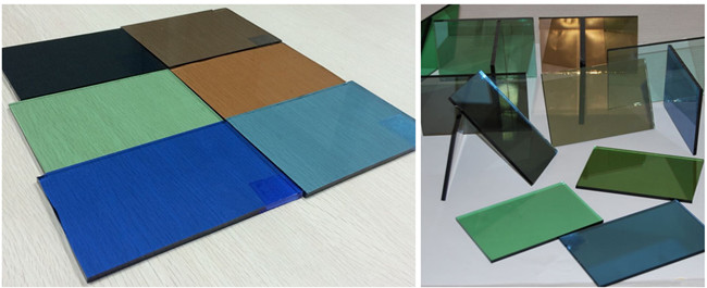 tinted float glass and reflective glass
