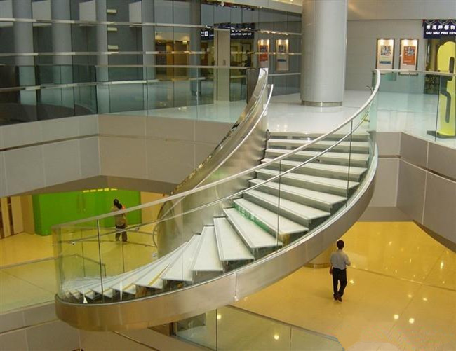 10mm curved tempered glass used for handrail
