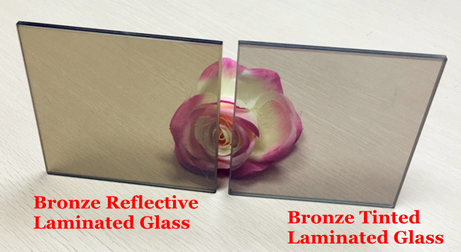 energy efficiency bronze building laminated glass price