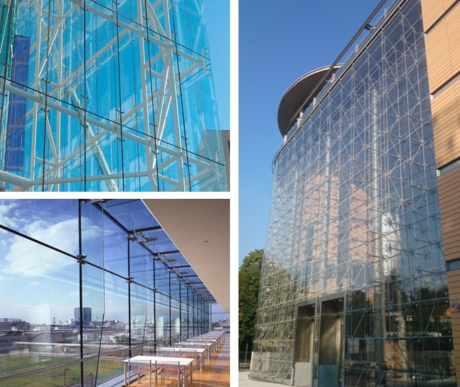 safety laminated glass curtain wall facade China suppliers