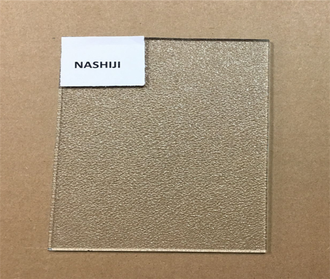 3mm clear Nashiji textured glass price
