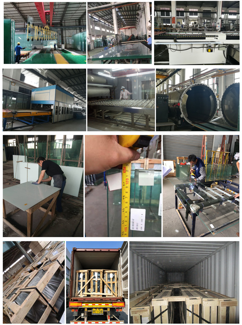 production colored PVB laminated glass