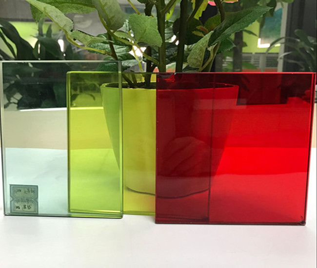 color PVB tempered laminated glass