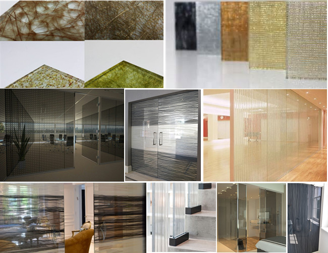 fabric laminated glass applications