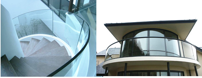 China 12mm curved tempered glass