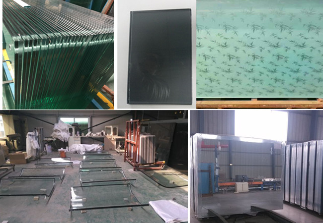 tempered laminated glass and mirror glass