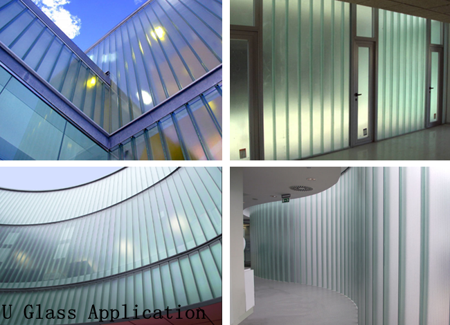 U shape glass wall factory