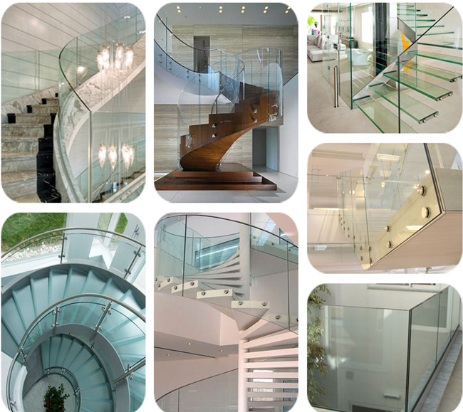 transparent tempered Laminated-Glass railing