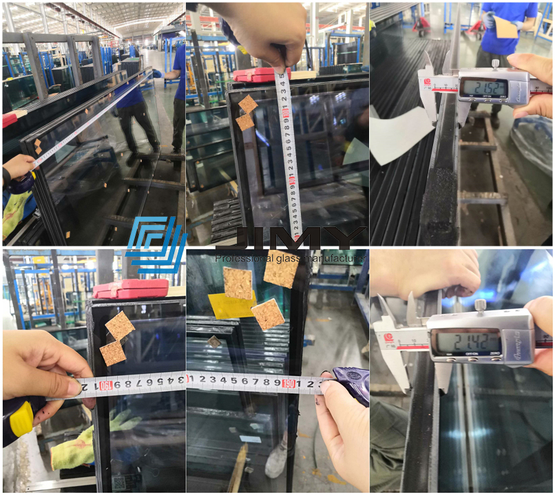 Excellent solar performance 6mm blue tempered glass+16A+8.38mm laminated glass blue laminated DGU glass